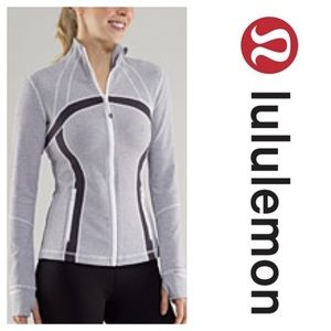 Lululemon Define Jacket Heathered Coal Wee Stripe